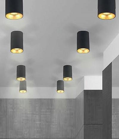 Черный накладной потолочный светильник