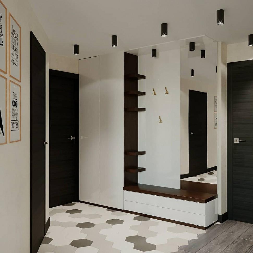 Черный потолочный светильник в коридор
