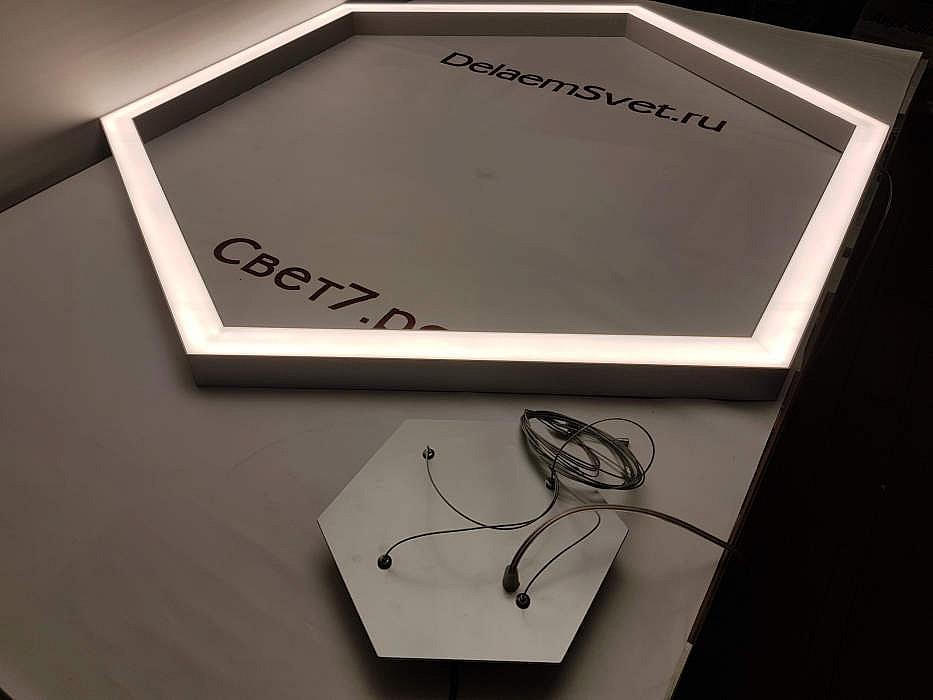 Светодиодный светильник из профиля для офиса