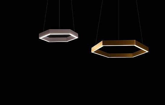 Светодиодный светильник шестиугольный потлочный