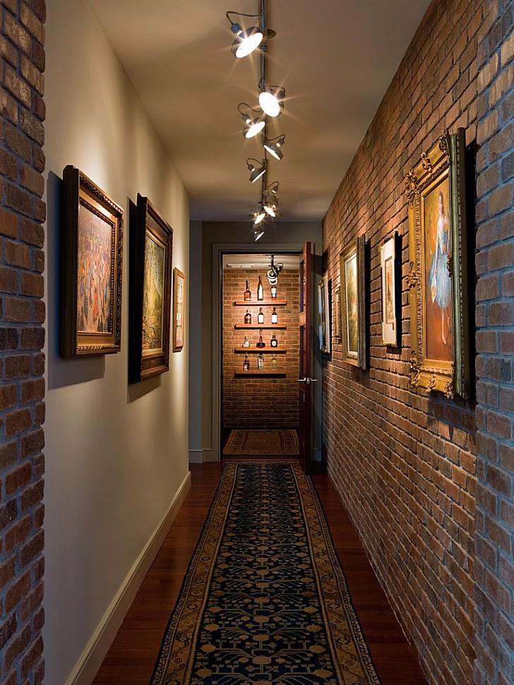 LOFT освещение в коридоре